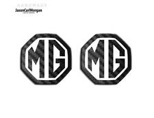 MGF MG ZS ZR  MK1 Badge Inserts Front Rear Fits 59mm Emblem Black Carbon White