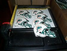 6 Large Helmet stickers NFL Miami Dolphins FREE SHIPPING