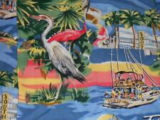 Pacific Blue button shirt Florida tourist attractions large hawaiian shirt