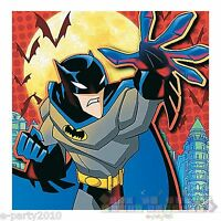 THE BATMAN LUNCH NAPKINS (16) ~ Birthday Party Supplies Dinner Luncheon Large