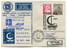 FFC 1966 Austrian Airlines AuA Volo Speciale Vienna Parigi - Europa CEPT