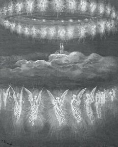 Paradise Gustave Dore Religious & Inspirational Engraving Canvas Print 24x30 in.