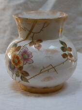 Royal Bonn Franz A Mehlem Hand Painted Vase Raised Paste Branches Flowers
