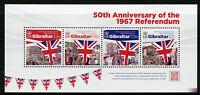 Gibraltar 2017 MNH 1967 Referendum 50th Anniv 4v M/S Flags Stamps