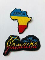 Africa Map Jamaica   Embroidered Iron On /Sew On Patch Badge For Clothes etc