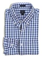J.Crew Factory Men's XL Slim Fit - NWT - Tonal Navy Gingham Washed Cotton Shirt