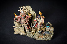 Bernadette, Sisters of Battle Canonnes, diorama with dead Chaos Space Marine