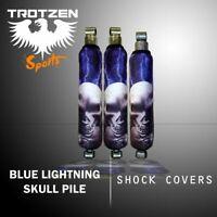 Honda trx 250ex Blue Lightning Skull Pile Shock Cover #mgh3452sc3452