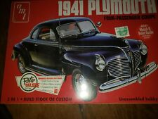 Amt 1941 Plymouth four passenger coupe Retro Deluxe Model Kit - New Sealed