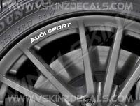 8x Audi Sport Logo Premium Cast Wheel Rim Decals Stickers S-line TT RS Quattro