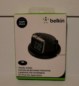 BELKIN APPLE WATCH TRAVEL STAND STATION RECHARING LOCK NEW IN BOX