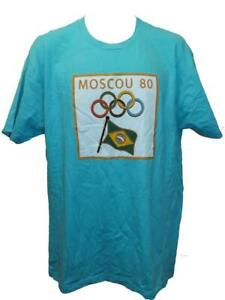 New 1980 Moscow Russia Summer Olympics Mens Size XL Licensed Shirt