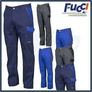 Pantaloni da Lavoro Multistagione Invernali Payper Multitasche Uomo 100% Cotone