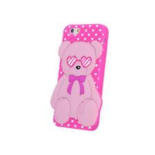 ^ BACK CASE 3D Etui Case Schutzhülle Hülle Etui Cover Teddybär Pink LG K10 2016