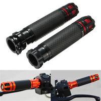 "Orange 7/8"" Motorcycle Motorbike Handlebar CNC Hand Grip & Throttle Twist"