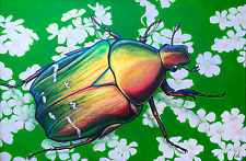 "ALEX NIZOVSKY – SUMMER '82 – Original Animal Art, USA, Acrylic on Canvas 24""x36"""