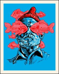 """HE IS THE ZISSOU"" Wes Anderson Tim Doyle print art"