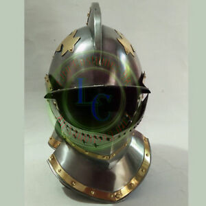 Burgonet-Helmet-Reenactment-Armour-Medieval-Knight-Helmets