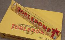 Box of 5 Toblerone Milk Chocolate XL Giant Bars 5 x 750g Ideal Chrismas Present