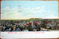 1912 Postcard: Bird's Eye View from ME Church - Meriden, Connecticut CT