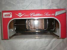 ANSON 1947 black Cadillac series 62 Convertible 1.18 die cast model car