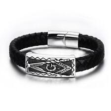 Bracelet homme femme symbole maçonnique franc-maçon équerre compas bijou 22 cm