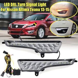 DRL Daytime Running Light Turn Signal LED For Nissan Altima Teana