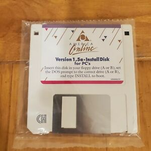 America Online / Chicago Online DOS Version 1.5, 1.44MB Floppy Disc, COLLECTIBLE