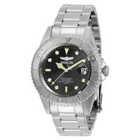 Invicta Men's Watch Pro Diver Quartz Black Dial Stainless Steel Bracelet 29937