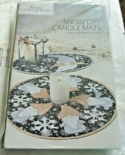 Annie's Holiday Quilters Club Snow Days Candle Mats Craft Kit NIP