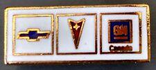 Vintage Chevrolet Pontiac GM Canada emblem Lapel Tie Tack Hat Pin Chevy logo