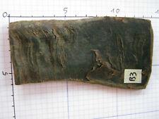 Original Büffelhorn dunkel, marmoriert, ideal als Griffschalen, 13x6x0,4 Nr. B3
