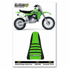 1982-2002 KAWASAKI KX 60 Black/Green/Black RIBBED SEAT COVER BY Enjoy MFG
