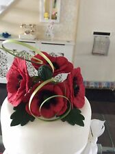 SUGAR POSY ANENOMIES / POPPIES FOR CAKE IN DARK RED,  ALSO OTHER COLOURS