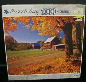 NEW ENGLAND FARM & AUTUMN SUGAR MAPLES, VERMONT 1000 PIECE JIGSAW PUZZLE NEW A76