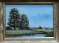 "James J Allen Signed Original Oil Painting, ""SUMMER HADLEIGH SUFFOLK"", framed"