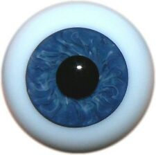 ~GeRMaN SoLiD RoUnD GLaSs EyEs 18MM BaBy BLuE GrAy ~ REBORN DOLL SUPPLIES 3307