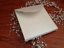 10 DIY Mtallic Square BOX(pocket) Wedding invitation 250GSM Ivory 16x16x1.3cm