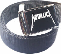 Metallica Belt Buckle Bottle Opener Adjustable Web Belt