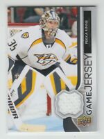 (70083) 2014-15 UPPER DECK SERIES 1 GAME JERSEY PEKKA RINNE #GJ-PR