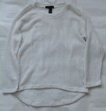 White Cropped Sweater Jumper Forever 21- Size M on label (UK 8)