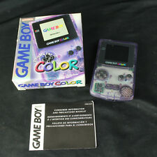 Nintendo Game Boy Color System Clear Purple CIB Complete in Box Tested Working!