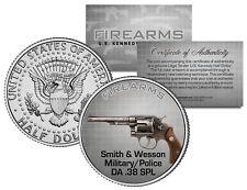 SMITH & WESSON Military/Police DA .38 SPL Gun Firearm JFK Half Dollar U.S. Coin