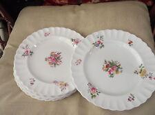 6 X ANTIQUE DINNER PLATES COPELAND SPODE HANDPAINTED ROSE BOUQUET C1025 TG GOODE
