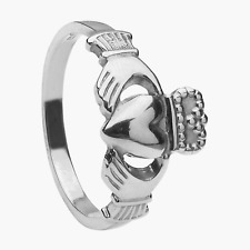 Maids Claddagh Ring 10mm Sterling Silver Standard Heavy