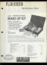 Super Rare F&B Ceco Professional Motion Picture Make-Up Kit Dealer Brochure