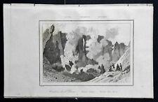 ITALIA: CATANIA, CRATERE DELL'ETNA..VEDUTA.= LEMAITRE.SICILIA.Artaud.1835