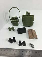 1/6TH LOT OF BINOCULARS RADIO & POUCH ETC... GI JOE DRAGON BBI DID 21st