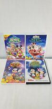 Mickey Mouse Clubhouse Dvd Lot Of 4 Halloween Treat Monster Choo Choo Santa Work