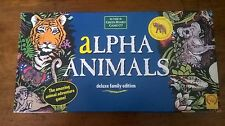 Complete Alpha Animals deluxe family edition board game - educational and fun